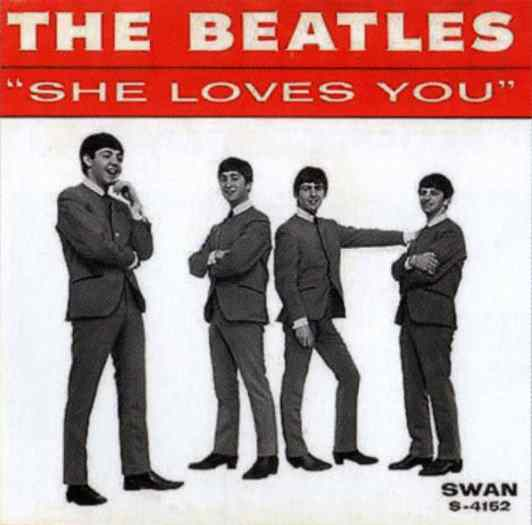 She Loves You single artwork - USA