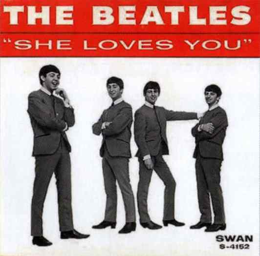 She Loves You single artwork - USA