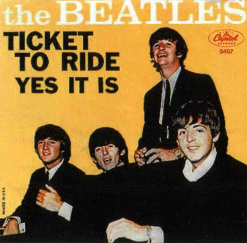 Ticket To Ride single artwork – USA