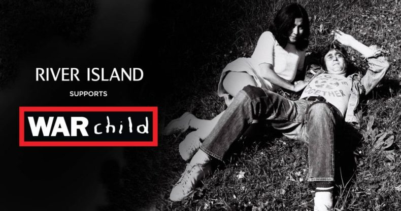 War Child/River Island promo photograph featuring John Lennon and Yoko Ono