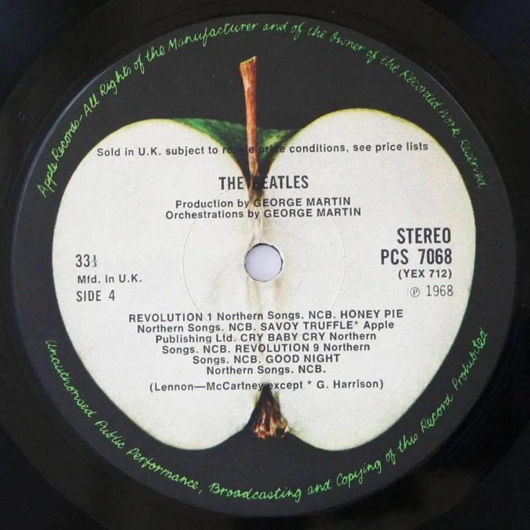 The Beatles (White Album) label, side 4