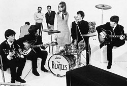 A Hard Day's Night - The Beatles and Pattie Boyd, 1964