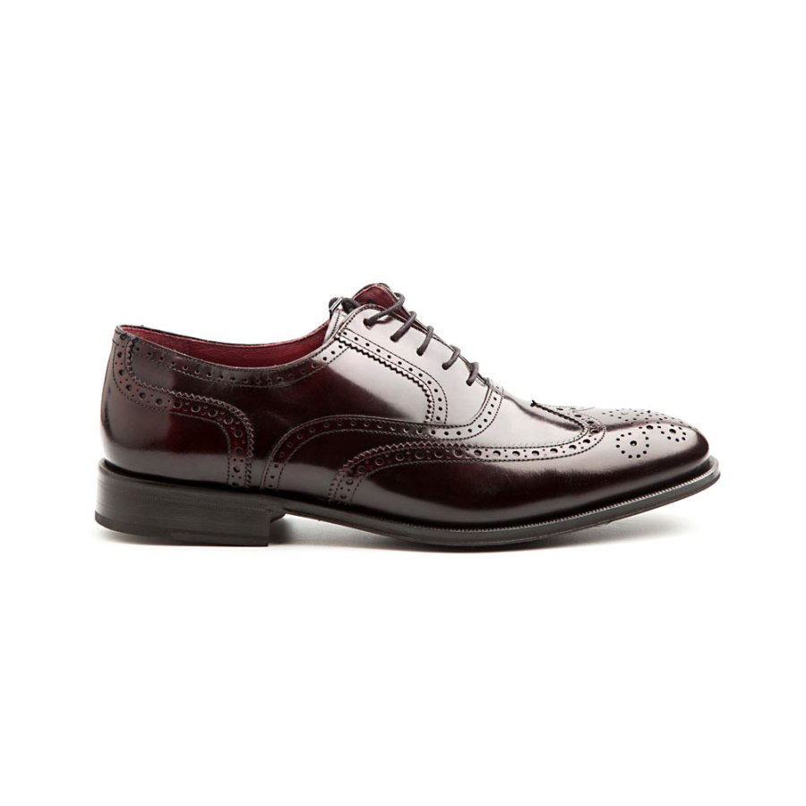 Oxford full brogue burgundy by Beatnik Shoes