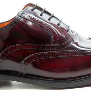 zapato de cordones Oxford formal para traje en rojo hombre por Beatnik Shoes