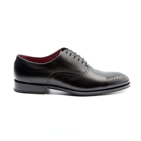 Kaufman Semi brogue negro por Beatnik Shoes