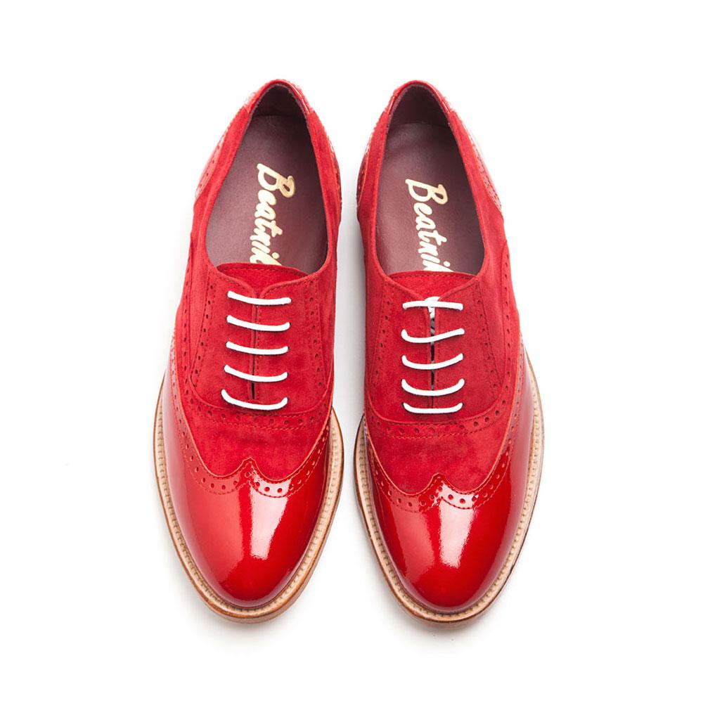 Lena Too red Oxford por Beatnik shoes