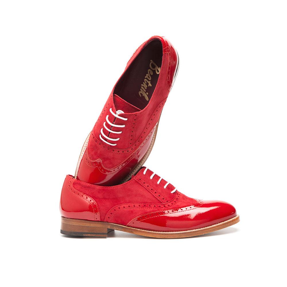 Lena Too red Oxford mujer por Beatnik shoes