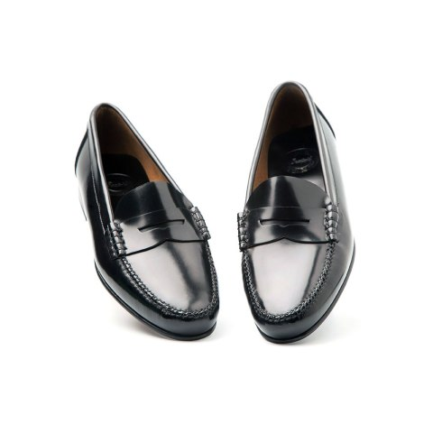 Loafer negro de antifaz para mujer Fontella por Beatnik Shoes