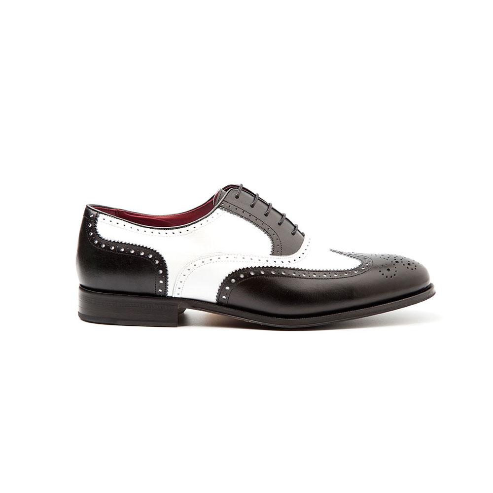 Holmes man Oxford black & White by Beatnik Shoes