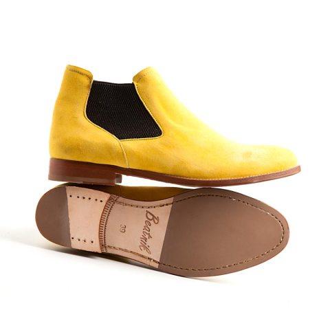 Ella mostard chelsea boot by Beatnik Shoes