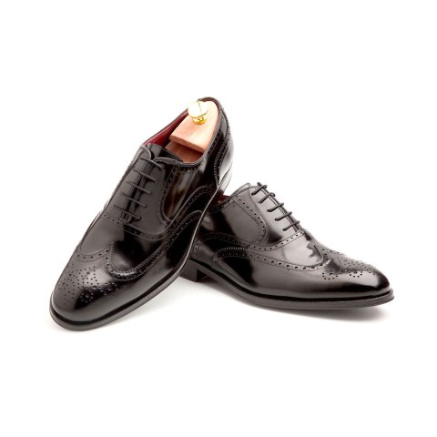 Black leather Male Oxfords by Beatnik Shoes