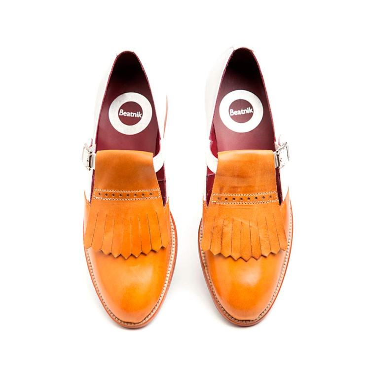 Two tone monk shoes Brenda for woman Handmade in Spain by Beatnik Shoes