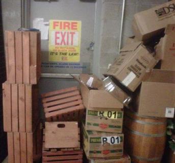 blocked emergency exit 2