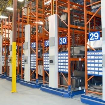 Montel SafeRak 60 Industrial Powered Mobile Pallet Racking