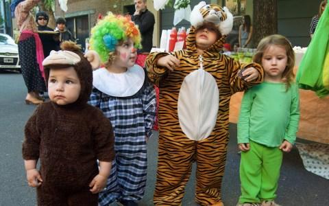 Kids at Halloween