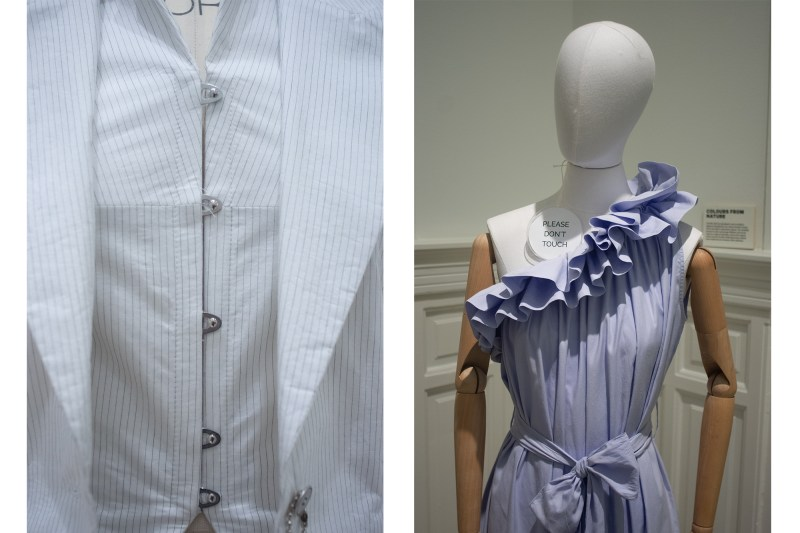 Mannequin's showcase the work by sustainable designers at Fashion for Good Museum in Amsterdam.