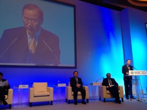UN Secretary-General at WBCSD meeting