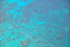 turquoise sea ripples