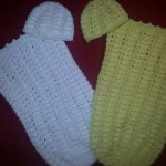 SHELLS AND SUNSHINE COCOON & HAT SET