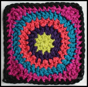 Granny's Circle in Square Pink