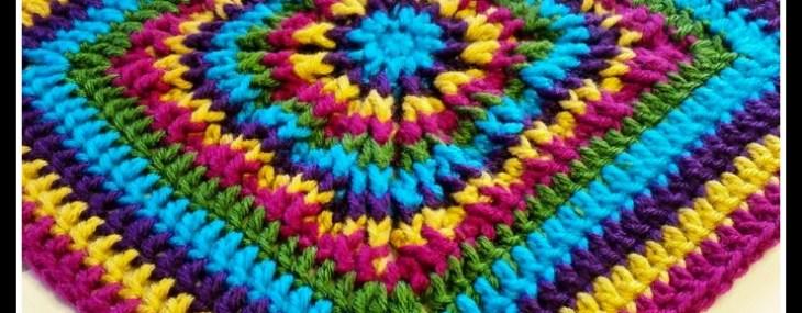 Rainbow Burst… Reversible Crochet Granny Square!!