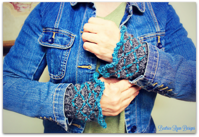 steel-ridge-wristlets-free-crochet-pattern