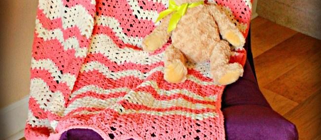 Chenille Chevron Baby Blanket… Free Crochet Pattern!!