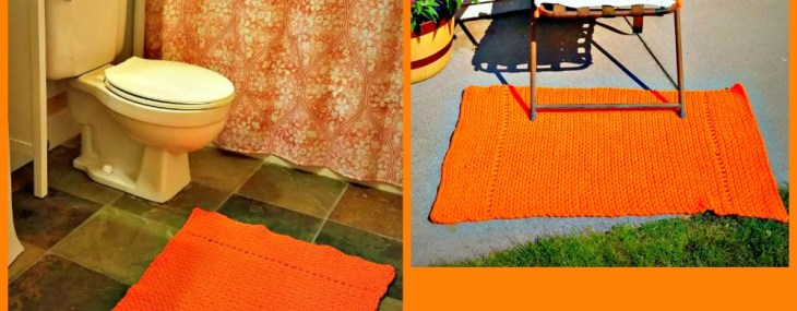 Orange Squeeze Indoor/Outdoor Crochet Rug… Free Crochet Pattern!!