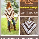 Coffee & Cream Poncho Crochet Along… Join the fun!