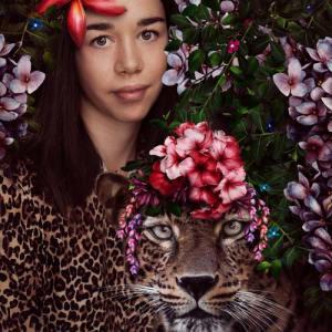 Leopard photo in square cut