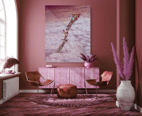 Giraffes in the living room
