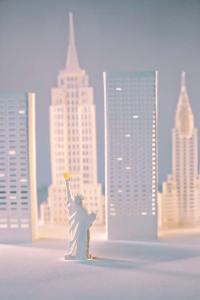 New York city paper art