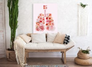 Blooming lungs in living room