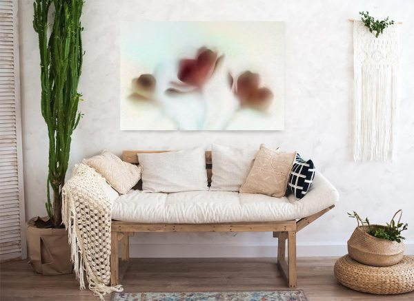 Artwork on the wall in a living room