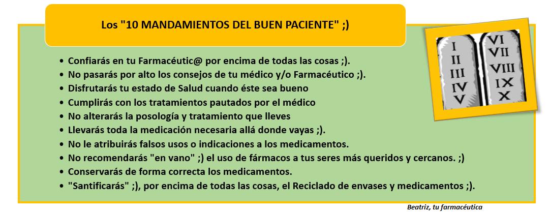 """Los """"10 mandamientos del Buen Paciente"""""""