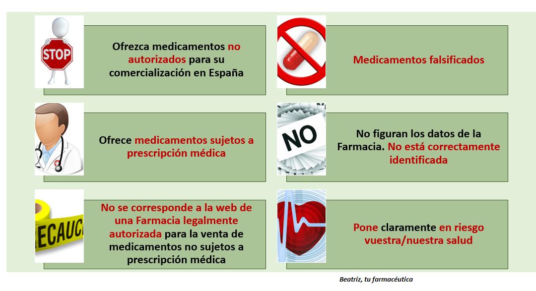 ¿Cómo reconocer una web ilegal de venta de medicamentos?