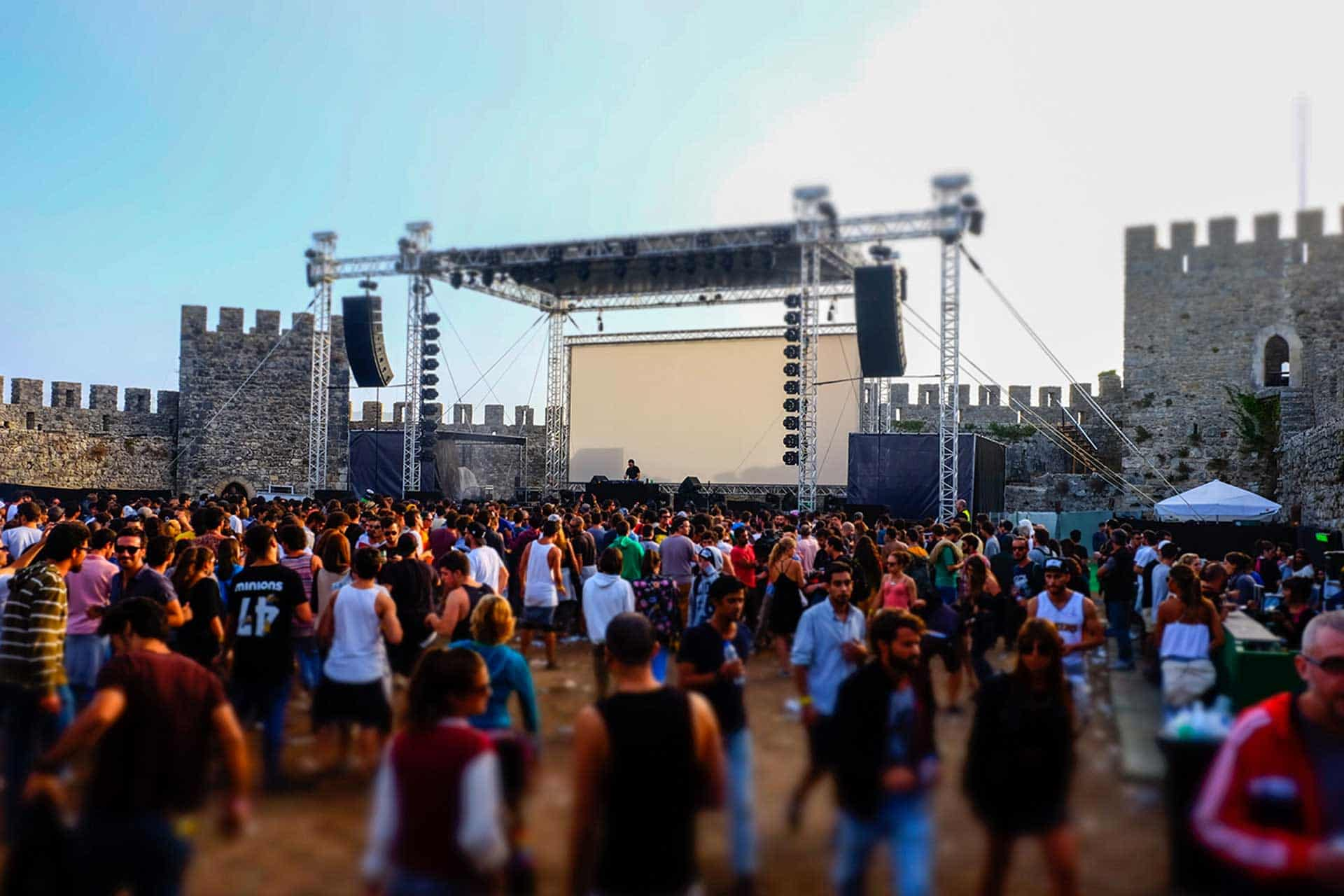 Raving in a castle