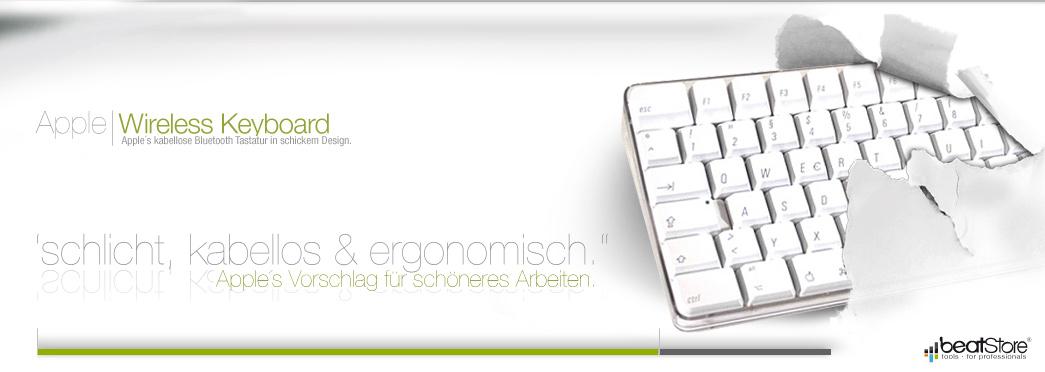 Apple Wireless Keyboard Bluetooth ·Tastatur weiss dt