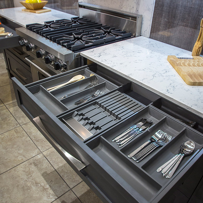 kitchen drawer ideas for cabinets cuisines beauregard system project b8 practical and dividers utensils knives small accessories the legrabox