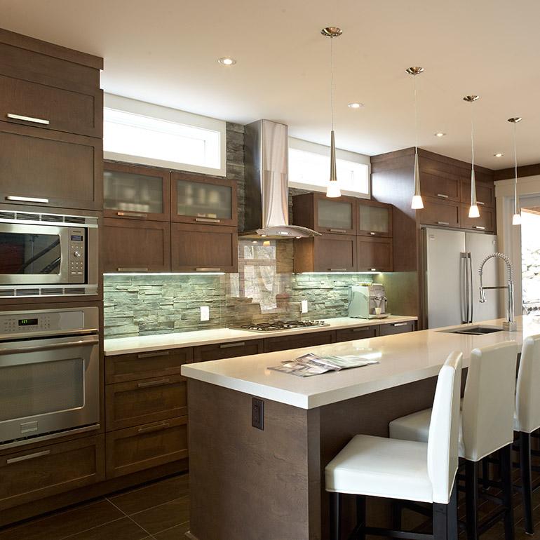 cuisine contemporaine bois massif