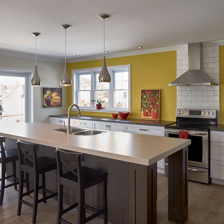 shaker style kitchen countertop cuisines beauregard   cuisine réalisation 337 ...