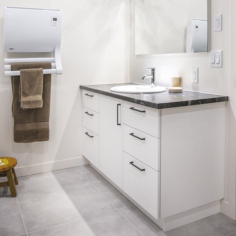 Cuisines Beauregard Contemporary Bathroom Project No 372 Melamine Bathroom Cabinets