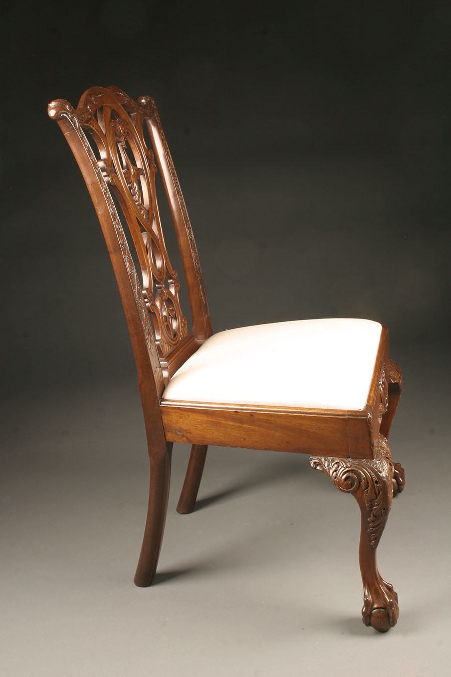 Antique Chippendale Style Side Chairs