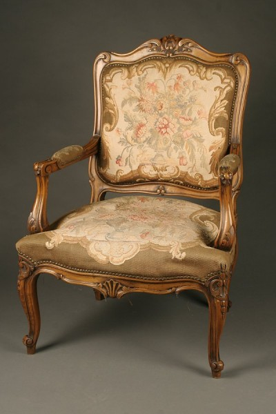 19th century French Louis XVI style arm chair with