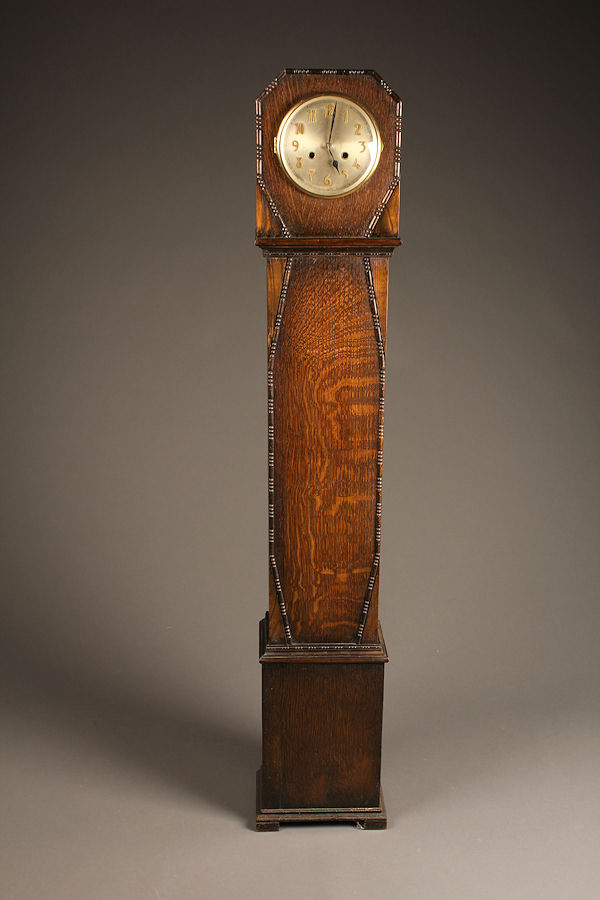 English Art Deco grandmother clock
