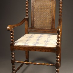 Vintage Oak Dining Chairs Desk Chair And Pair Of Antique Jacobean Arm Chairs.
