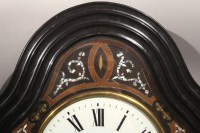 Antique French Morez picture frame wall clock with mother ...