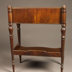 Chair Side Book Stand Hanging Egg Only Antique English Mahogany Made In A5758c A5758b A5758f
