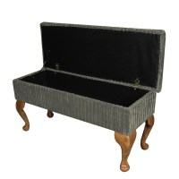 Large Dressing Table Storage Stool in Jumbo Slate Cord ...