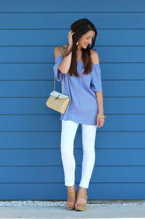 Σύνολα με λευκό παντελόνι (11)